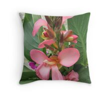 Canna Lily in Bloom Throw Pillow