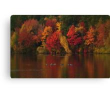 Red Autumn Dusk Canvas Print