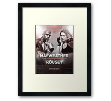 Mayweather vs Rousey Announcement Framed Print