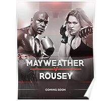 Mayweather vs Rousey Announcement Poster