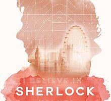 Watercolor BBC Sherlock Holmes Graphic by starryoswin