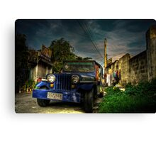 Converted Jeep Canvas Print