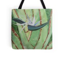 White Bird of Paradise Tote Bag