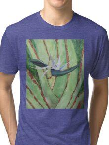 White Bird of Paradise Tri-blend T-Shirt