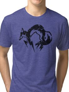 Foxhound V2 (Black) Tri-blend T-Shirt