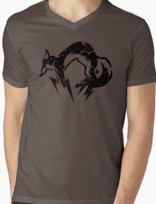 Foxhound V2 (Black) Mens V-Neck T-Shirt