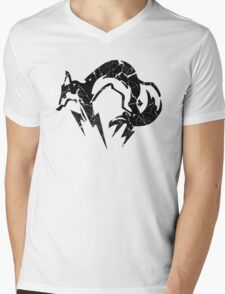 Foxhound V2 (Black) Mens V-Neck T-Shirt