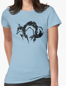 Foxhound V2 (Black) Womens Fitted T-Shirt