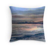 Sunset over Bridlington Throw Pillow