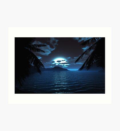 Moonlit Cove Art Print