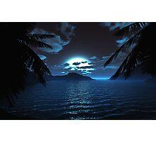 Moonlit Cove Photographic Print