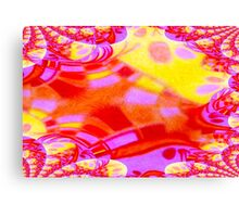 Abstract red, pink, orange and yellow fractal art Canvas Print