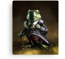 Noble Lord Frog Canvas Print