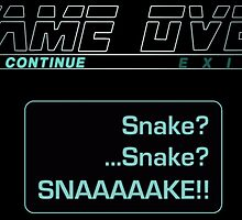 Metal Gear Solid : GAME OVER by Sazanami