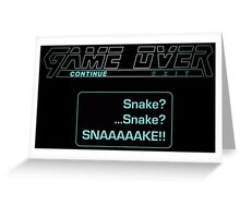 Metal Gear Solid : GAME OVER Greeting Card