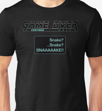 Metal Gear Solid : GAME OVER Unisex T-Shirt