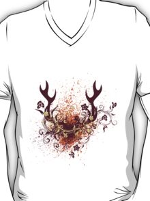 Deer Antlers with Flowers T-Shirt