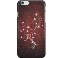 Floral vintage [red] iPhone Case/Skin