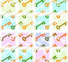 Key pastel color pattern by RosiLorz