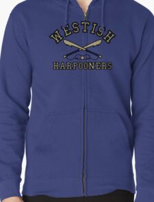Westish Harpooners Zipped Hoodie