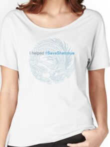 I helped #SaveShenmue Women's Relaxed Fit T-Shirt