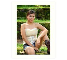 Model shoot in La Mesa Ecopark 14 Art Print