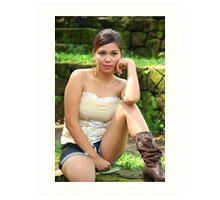 Model shoot in La Mesa Ecopark 15 Art Print
