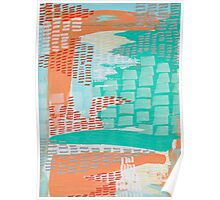 Tequila Sunrise - Textured Abstraction Poster