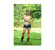 Model shoot in La Mesa Ecopark 18 Art Print