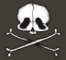 Skull and Crossbones (and Tongue) by Stack