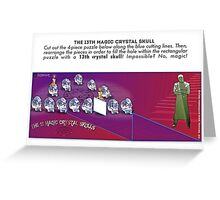 The 13th Magic Crystal Skull Greeting Card