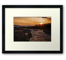 Solstice Sunrise on Quill Creek Framed Print