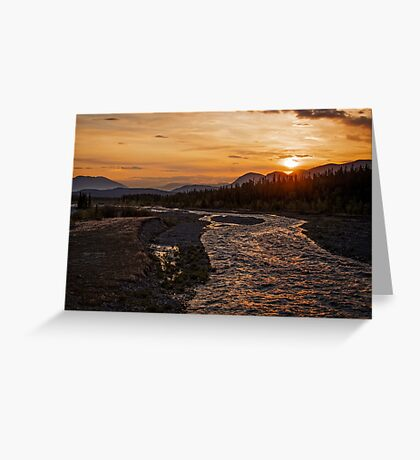 Solstice Sunrise on Quill Creek Greeting Card