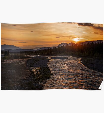 Solstice Sunrise on Quill Creek Poster