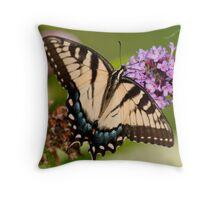 Yellow Tiger Swallowtail Throw Pillow