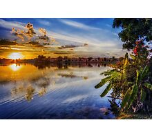 Sun sets blue Photographic Print