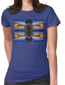 Sun sets blue Womens Fitted T-Shirt