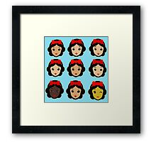 Snow White and eight sisters Framed Print