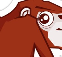 Monkey WTF??? Sticker