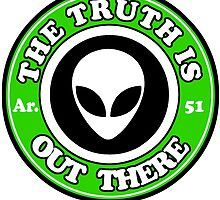 THE TRUTH IS OUT THERE - ALIEN HEAD by Calgacus