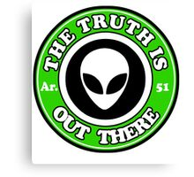 THE TRUTH IS OUT THERE - ALIEN HEAD Canvas Print