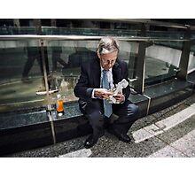Financial Lunch Break Photographic Print