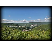 Jim Thorpe From Above Photographic Print