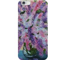 Lilacs from the garden, abstract floral painting, spring flowers iPhone Case/Skin