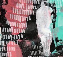 Midnight Garden - Textured Abstraction by angelique devitte