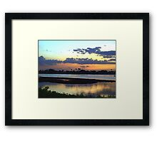 Three dimensions of blue Framed Print
