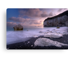 White Rock Sunset Canvas Print