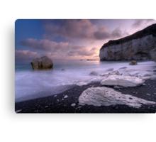 White Rock Sunset Canvas Print