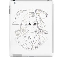 lies lead to the truth iPad Case/Skin