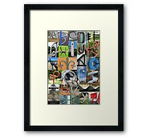 Alphabet Collage from New Zealand Framed Print